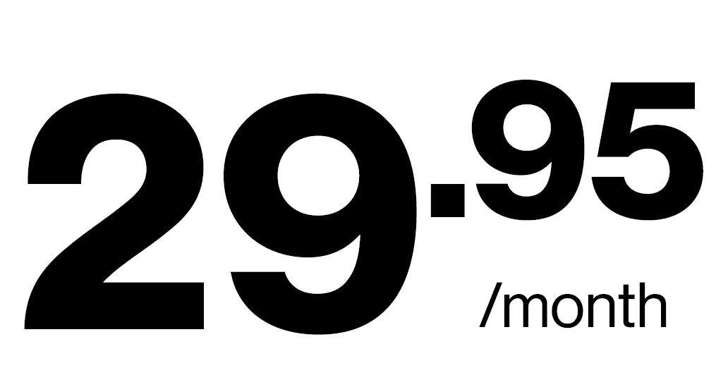 $29.95/month